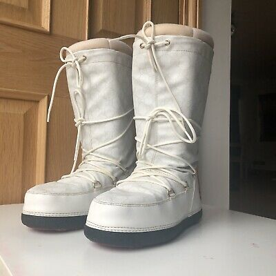 Womens Gucci Monogram Ski Boots Moon Boots Snow Boots UK Size 5 38 • 315£