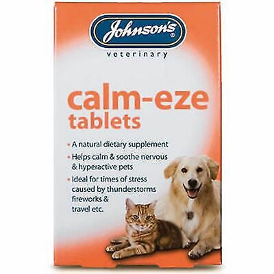 £4.29 • Buy Johnson's Calm-eze Tablets Soothes Calms Nervous Hyperactive Dogs Puppies Cats
