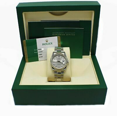 $ CDN11022.69 • Buy BRAND NEW Rolex Datejust 116234 Silver Dial Stainless Steel Box Papers