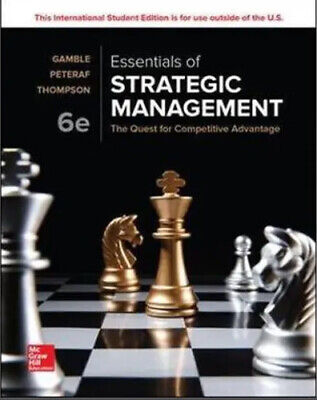 £45.78 • Buy Essentials Of Strategic Management: The Quest For Competitive Advantage
