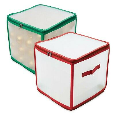 Christmas Bauble Storage Box Bag Xmas Tree Decorations Organiser -  64 Baubles • 12.99£
