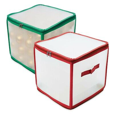 Christmas Bauble Storage Box Xmas Tree Decorations Organiser - Holds 64 Baubles • 13.99£