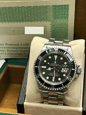$ CDN48870.39 • Buy Vintage RED Rolex Submariner 1680 ORIGINAL DIAL COMPLETE Box & Papers 1970