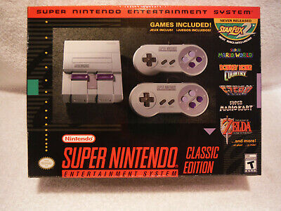 $ CDN236.61 • Buy New Authentic SNES Classic Edition With 6200 + Games Extensions Bundle N64 PS1