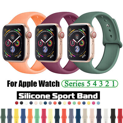$ CDN3.85 • Buy 38/42/40/44mm For Apple Watch IWatch Series 6 5 4 3 SE Silicone Sport Band Strap