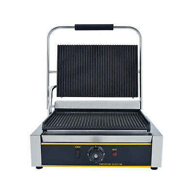 Grooved Panini Press Ribbed Toaster Sandwich Contact Grill Toaster BBQ 2200W UK • 169£