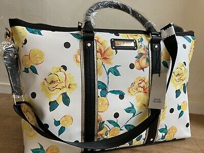 £35.99 • Buy River Island BLACK FLORAL HOLDALL BAG - Gym Weekend Bag New With Tags