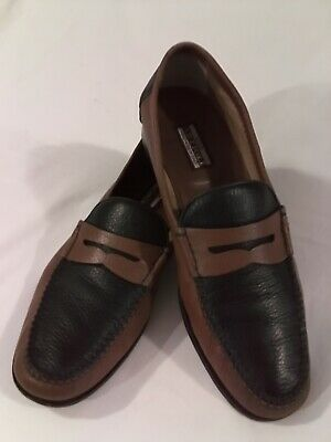$ CDN125.11 • Buy *ARTIOLI* Star Men's Hand Crafted Italian Shoes Size 11D Brown / Blue Loafer