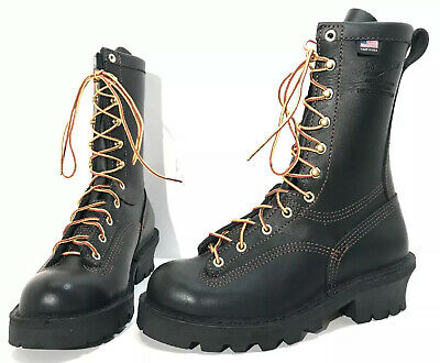 "$200 • Buy Danner NFPA Flashpoint II 10"" Black Leather Firefighter Work Boots Men's 6 EE"