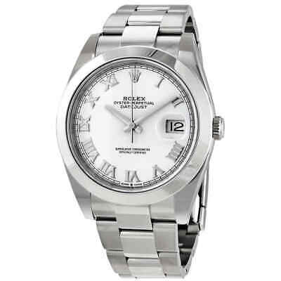 $ CDN10906.88 • Buy Rolex Datejust 41 White Dial Automatic Men's Oyster Watch 126300WSO