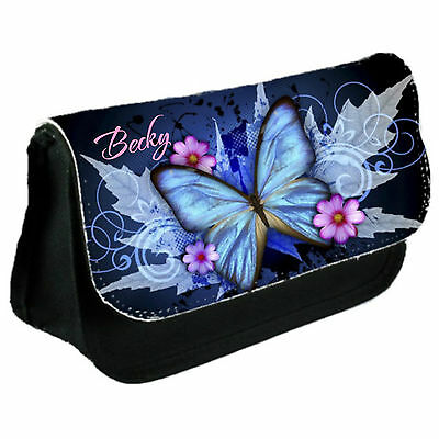Personalised Butterfly Girl's School Bag College Laptop Bag Add A Name Free • 8.45£