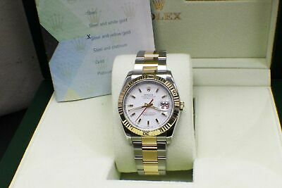 $ CDN11258.60 • Buy Rolex Datejust Turnograph 116263 18K Yellow Gold & Steel Box Papers 2014
