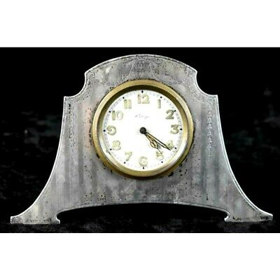 AU258.02 • Buy Rare Antique Concord Sterling Silver 8-Day Deco Travel Clock Working