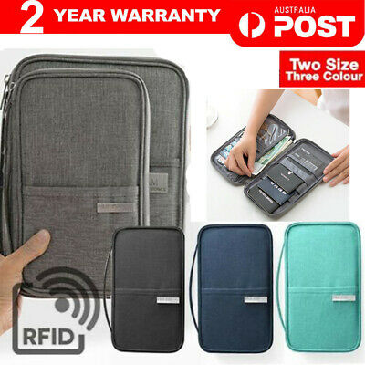 AU13.20 • Buy Waterproof Passport Holder Travel Document Wallet RFID Bag Family Case Organizer