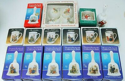 $ CDN50.74 • Buy Collection Of 19 Norman Rockwell  Christmas Ornaments Bells And Mugs FOR CHARITY