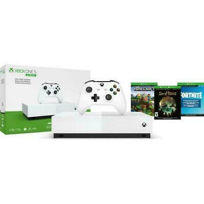 $214.89 • Buy 2020 NEWEST Xbox One S 1TB All-Digital Edition Console With 3 Games Bundle