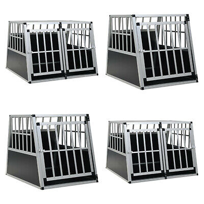 £353.99 • Buy Dog Pet Cage Aluminium Transport Crate Puppy Car Travel Carrier Kennel Box