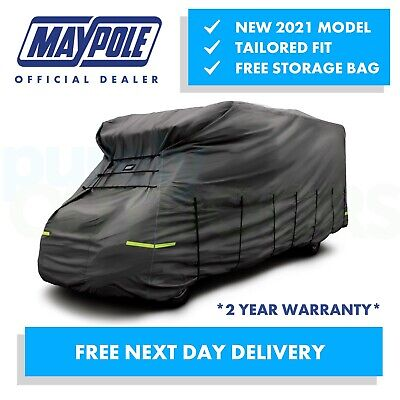 Maypole Premium Breathable 4-Ply Grey Motorhome Cover - 7.5 - 8.0m - MP9426 • 162.95£