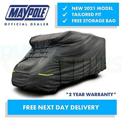 NEW 2020 Maypole Premium Breathable 4-Ply Grey Motorhome Cover 7.5 - 8.0m MP9426 • 189.95£
