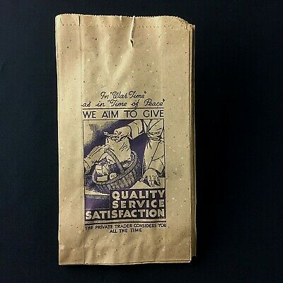 Rare & Genuine  WW2 Paper Bag ~ In  War Time  As In Time Of Peace  ~ Unused • 12£