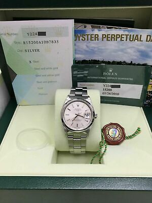 $ CDN5424.01 • Buy Rolex 15200 Date Silver Dial Stainless Steel Box Papers Service Papers 2003