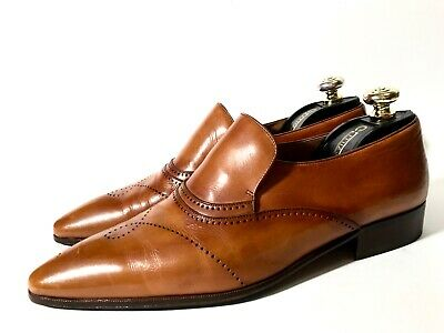 $ CDN594.43 • Buy Artioli Light-Brown Patina Leather Shoes Loafers Size 44, UK-10, US-11