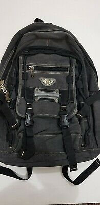 AOKING Sports Olympic Grey Black XL Large Backpack Multi Pocket And Front Flap  • 3.96£