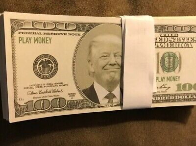 $16.99 • Buy 100X 100 Dollar Trump Bills PLAY MONEY Stack Collectible Celebrity Novelty