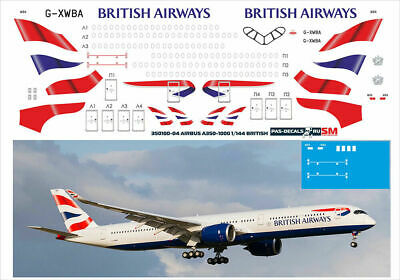 1/144 PAS-DECALS ZVEZDA Revell Airbus A350-1000-04 BRITISH AIRWAYS • 16.45£