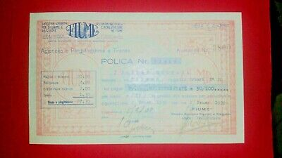 $ CDN40.09 • Buy Albania Document  1938   Insurance   Police Sigurimi    FIUME