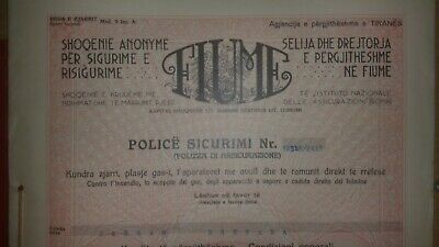 $ CDN132.29 • Buy Albania Document  1935   Insurance   Police Sigurimi    FIUME