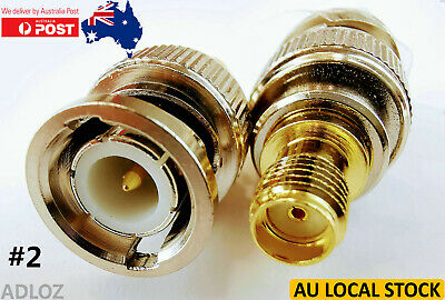 AU5.95 • Buy #2 BNC Male To SMA Female RF Coaxial Converters Connectors Adapters #2
