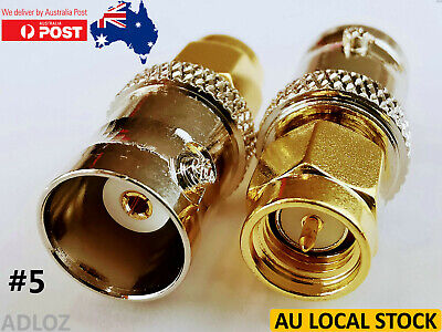 AU5.95 • Buy BNC Female To SMA Male RF Coaxial Adapter Converter Connector Adaptor 1 PIECE