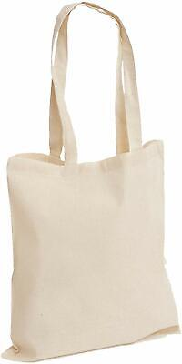 £8.99 • Buy 10 Blank Plain Natural Cotton Shopping Tote Bags For Transfer Screen Printing