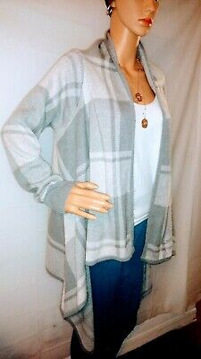 $7 • Buy Merona Grey & White Open Front Poncho Cardigan Sweater - Large