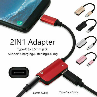 £2.69 • Buy USB Type C To 3.5 Mm Headphone Jack Adapter AUX Cable 2 In1 Audio Convertor UK