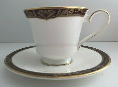 Royal Doulton Tennyson Footed Tea Cup And Saucer • 21£