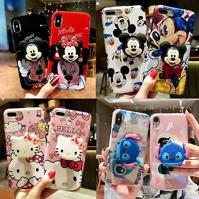 AU10.46 • Buy Cute Disney Hello Kitty Airbag Stand Holder Case Cover For IPhone 11 Xs Max 7 8+