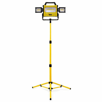 LED Flood Light Tripod Stand Camp Work Site Emergency Lamp Stand Single / Twin • 69.99£