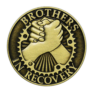 $5.75 • Buy AA Coin Brothers In Recovery Bronze Alcoholics Anonymous Medallion Chip Token