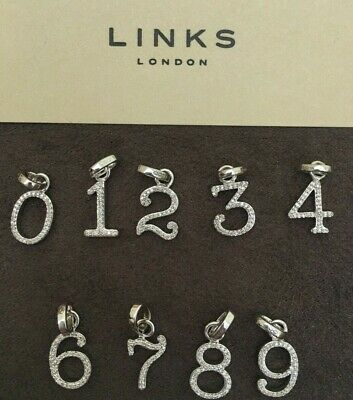 £37.99 • Buy Links Of London Serling Silver & Diamond Birthday Number Charms  RRP £85