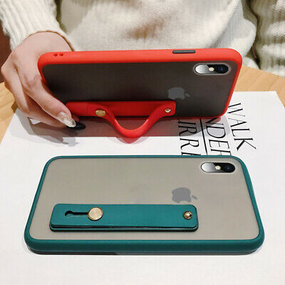 AU5.49 • Buy For IPhone 11 Pro Max XS XR X Frosted Silicone Hand Strap Stand Soft Case Cover