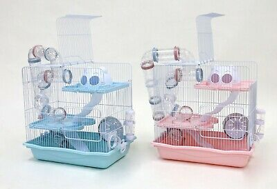 Hamster Cage, Little Zoo With Tubes, Pink Or Blue 2008 • 36.99£