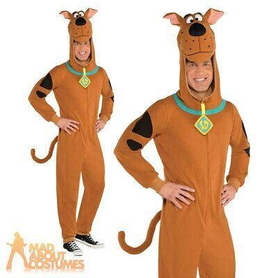 £23.99 • Buy Adults Scooby Doo Costume Dog Fancy Dress Fleece Outfit Mens Ladies Book Day