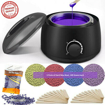 $27.99 • Buy Professional Wax Warmer Heater Hair Removal Depilatory Home Waxing Kit Beans