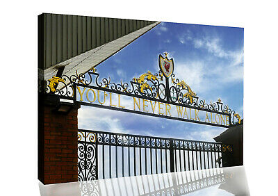 £18.49 • Buy Coloured Liverpool You'll Never Walk Alone Gates CANVAS WALL ART Picture Print