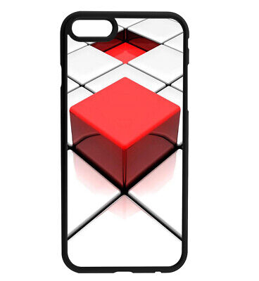 Red Block White Block Rubber Bumper Phone Case Cover For IPhone & Samsung • 4.99£