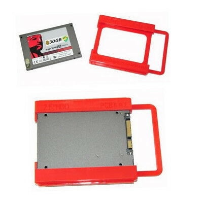 AU2.84 • Buy 2.5 To 3.5 Adapter Bracket HDD SSD Notebook Mounting Tray Caddy Bay Post Red C