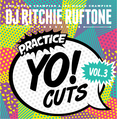 DJ RICHIE RUFTONE PRACTICE YO CUTS VOLUME 3 - 12  Teal Vinyl  SCRATCH HIP HOP  • 16.99£