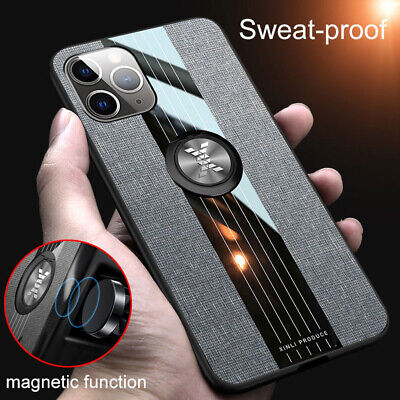 AU10.13 • Buy Case For Iphone 11 Pro Max XS XR X Cases Cloth Finger Ring Stand Magnet Cover